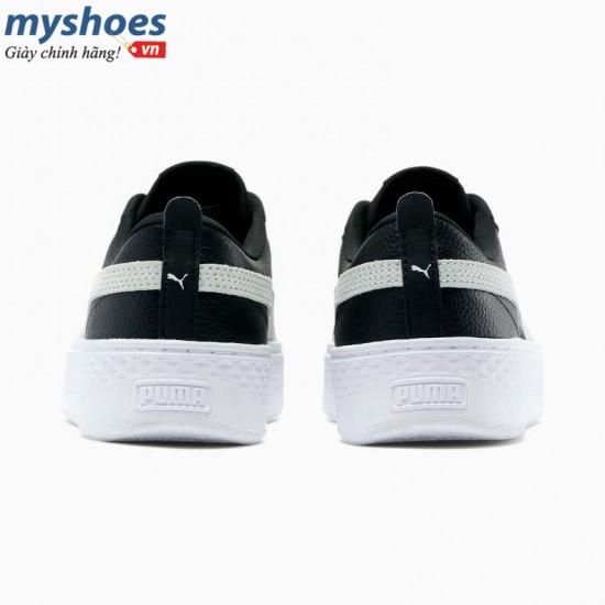 Giày Puma Smash Platform L Nữ Đen Trắng