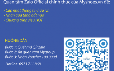 Nhận ngay Voucher 100K khi quan tâm Zalo OA của Myshoes.vn