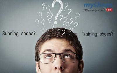 Sự khác biệt giữa giày chạy bộ (running shoes) và giày luyện tập (training shoes)?
