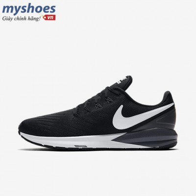 Giày Nike Air Zoom Structure 22 Nam - Đen Trắng