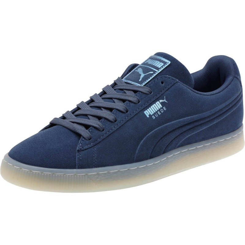 Giày Puma Suede Emboss Ice Foil Nam - Xanh
