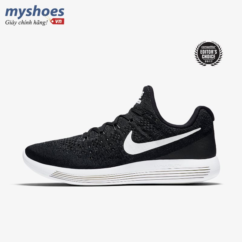 Giày Thể Thao Nike LunarEpic Low Flyknit 2 Nam - Đen trắng
