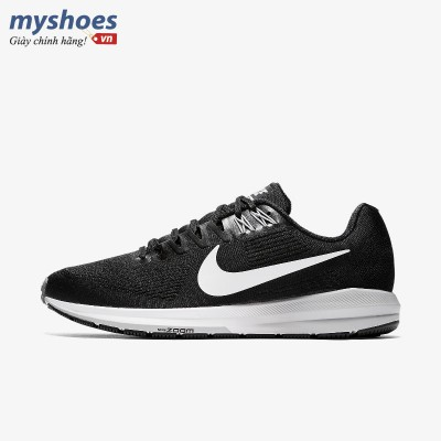 Giày Nike Air Zoom Structure 21 Nam - Đen Trắng
