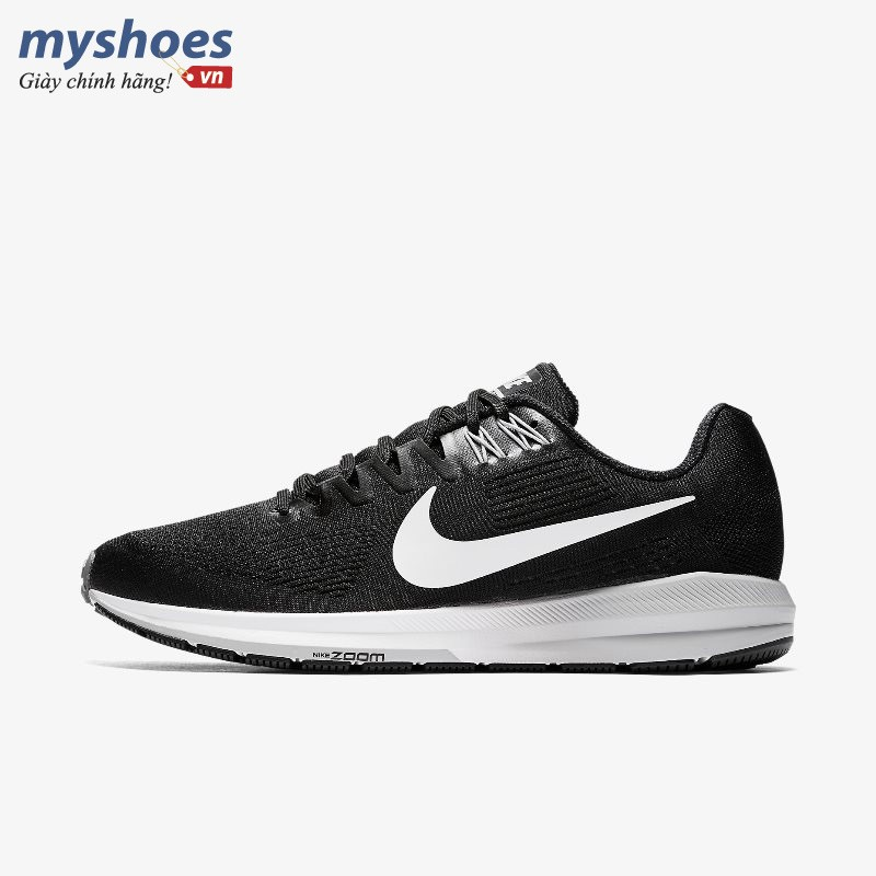 Giày Thể Thao Nike Air Zoom Structure 21 Nam - Đen Trắng