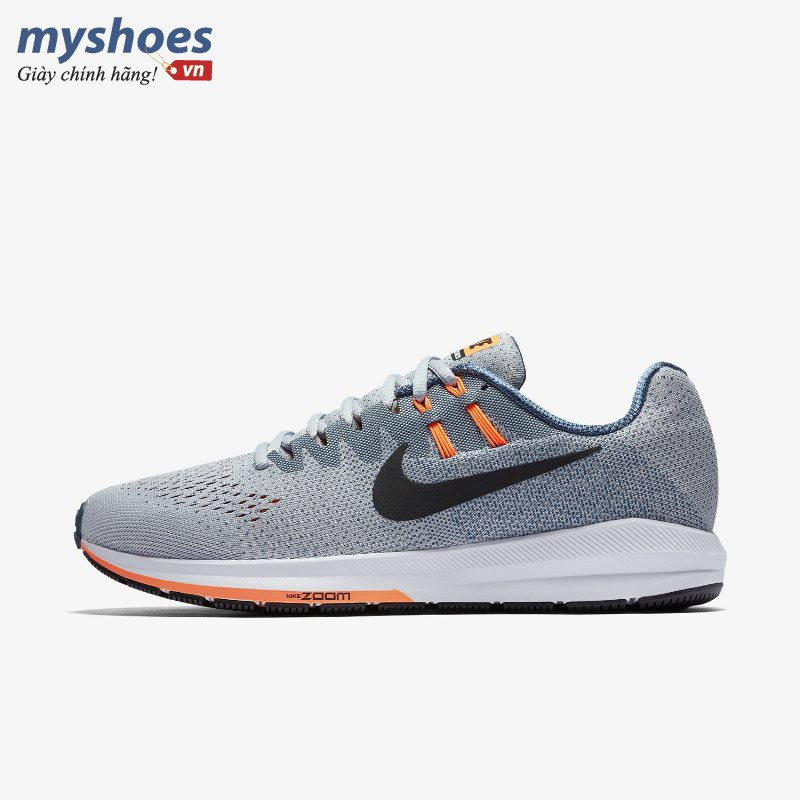 Giày Thể Thao Nike Air Zoom Structure 20 Nam - Xám Cam