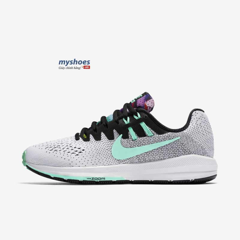 Giày Nike Air Zoom Structure 20 Nữ - Trắng Xanh