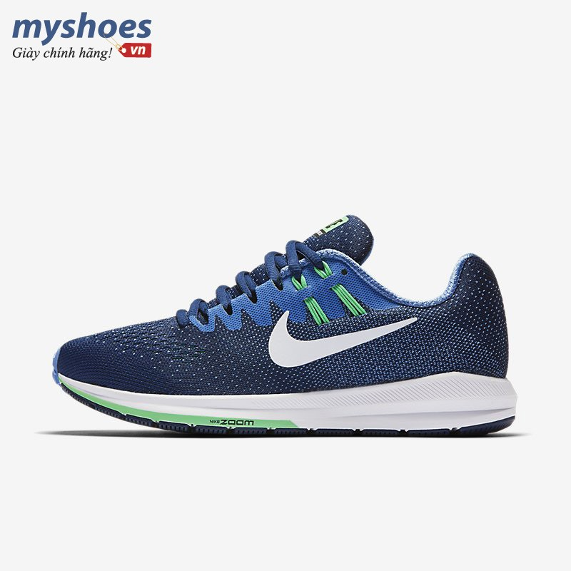 Giày Thể Thao Nike Air Zoom Structure 20 Nữ - Xanh Biển