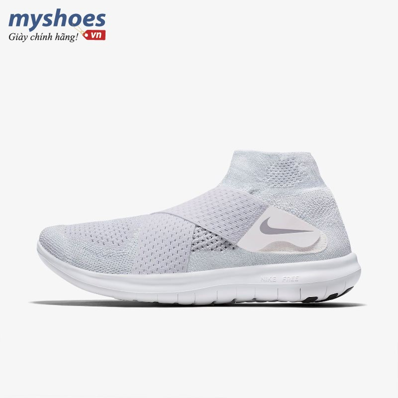 Giày Thể Thao Nike Free RN Motion Flyknit 2017 Nam - Trắng
