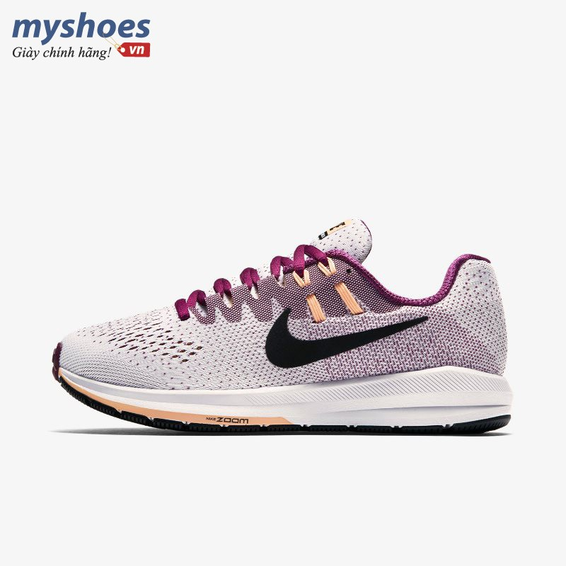 Giày Nike Air Zoom Structure 20 Nữ- Trắng Tím