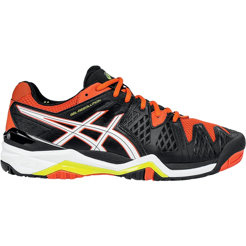 Giày Tennis Nam Asics Gel Solution 6 - Đen cam