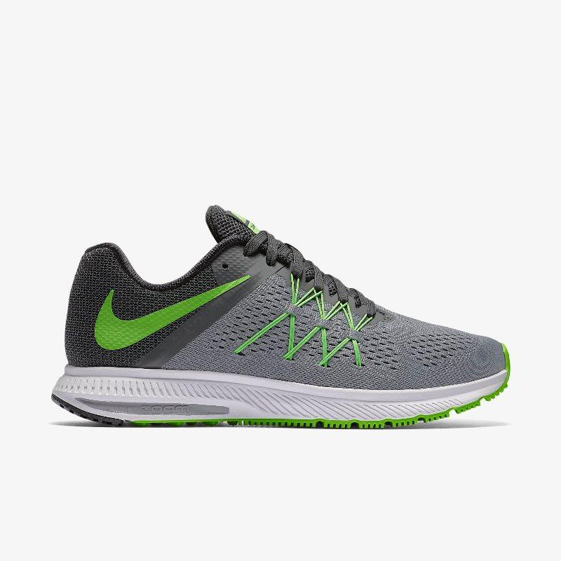 Giày Nike Zoom Winflo 3 Nam - Xám Xanh