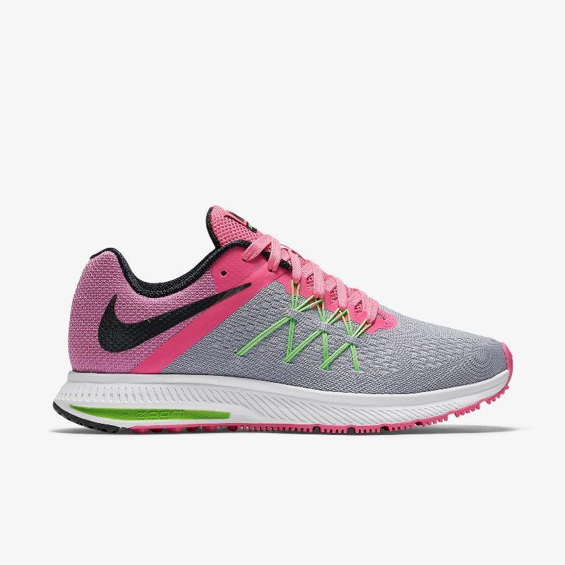 Giày Nike Zoom Winflo 3 Nữ -  Xám Hồng
