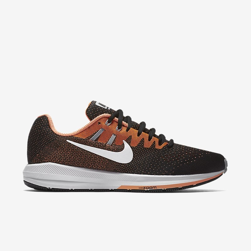 Giày Nike Air Zoom Structure 20 Nam - Đen Cam