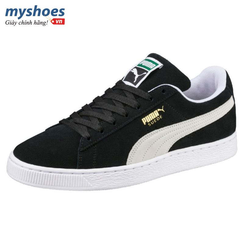Giày Puma Suede Classic - Đen Trắng