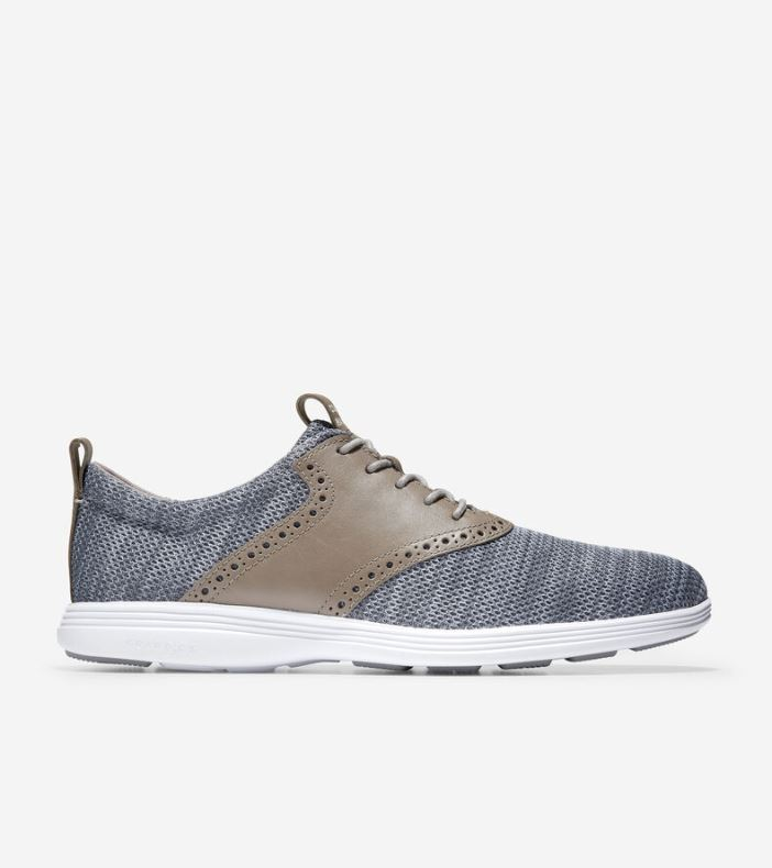 Giày Cole Haan Grand Tour Knit Nam -Xám