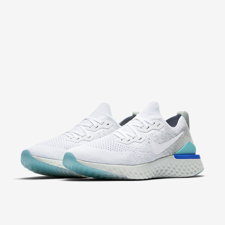Giày Nike Epic React Flyknit 2 Nữ -Trắng Xanh