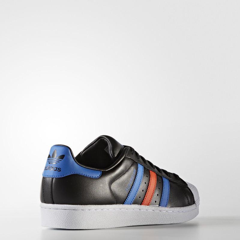 Giày adidas superstar đen xanh