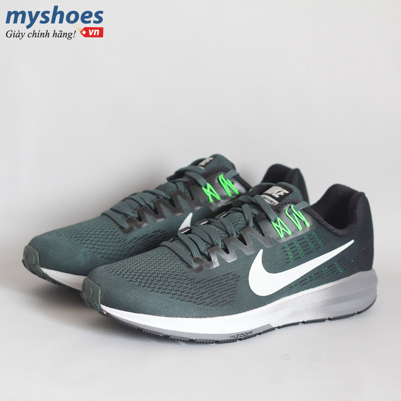 Giày Nike Air Zoom Structure 21 Xanh Lá