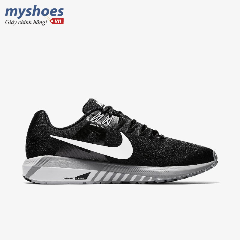giay Nike Air Zoom Structure 21 den trang