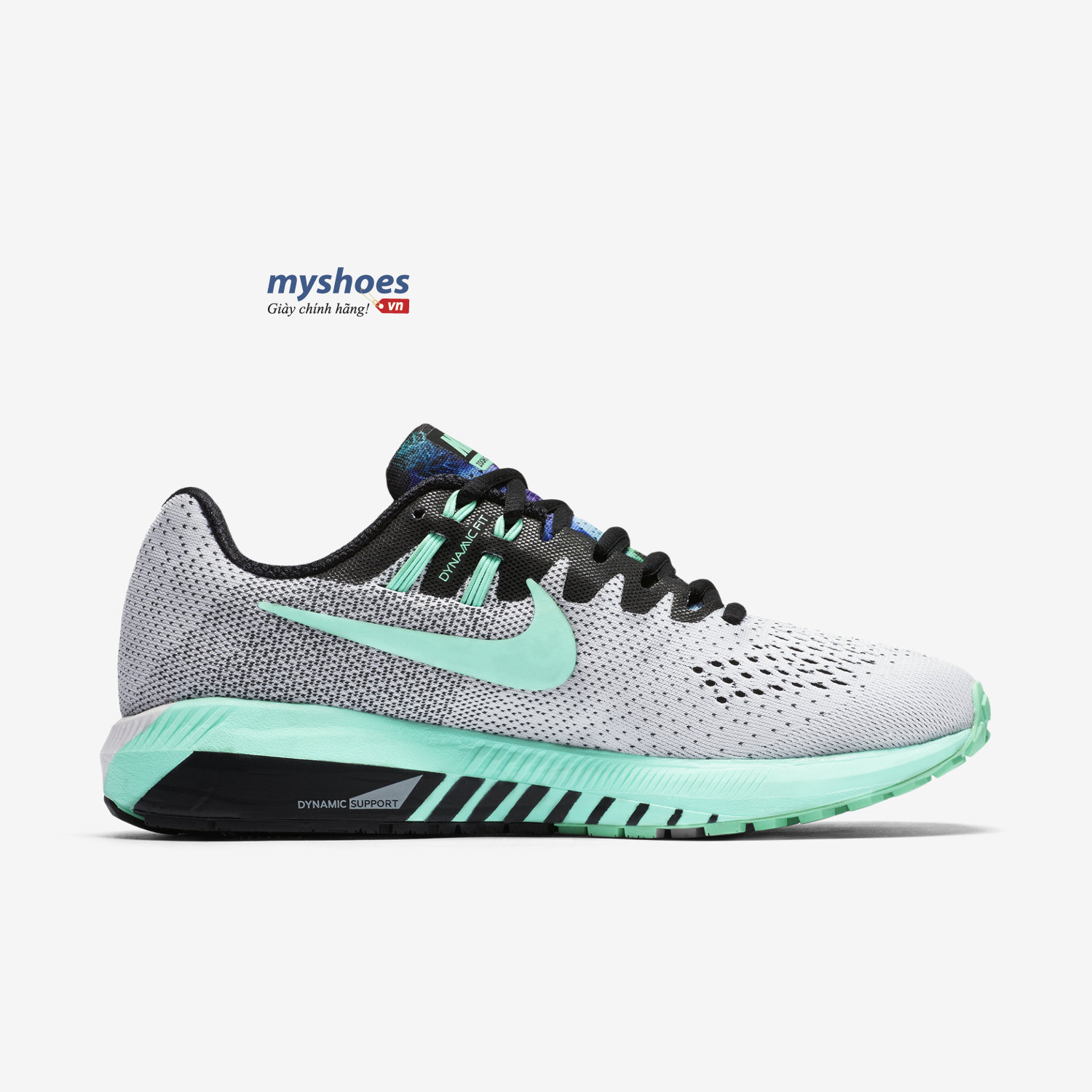 giày nike air zoom structure 20 nữ trắng xanh
